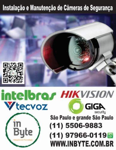 Instalação Camera de segurança, CFTV, camera, Intelbras, São Paulo, instalação, manutenção